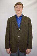 Vintage Men's 60's Harris Tweed Herringbone Rockabilly Sport Coat Size 42 to 44
