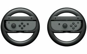 Nintendo Switch Joy Con Steering Wheel Official Accessory Pair of Gaming Wheels.