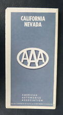 1965 California Nevada  road  map AAA  oil  gas early interstate