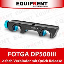 FOTGA DP500III 2-fach Quick Release Verbinder für 15mm Rods (EQR93)