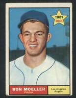 1961 Topps #466 Ron Moeller VG/VGEX RC Rookie Angels 48353