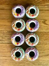 Moxi Fundae Hybrid Roller Skate Wheels full set of 8 in lavender and jade