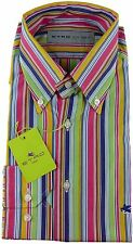 Etro Camisa hombre multicolor rayas NUEVO con etiqueta talla UK 42-16.5