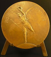 Medal the Winged Victory Louis Ernest Barrias 1886 Lenoir Winged Victory Medal