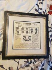 John Dillinger 1934 FBI Wanted ORIGINAL Poster Professionally Framed Gangster