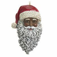 Kurt Adler Black African American Black Santa Christmas Tree Decor Ornament