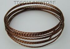 18GA Beadsmith Twisted Square Antique Copper Color Wire 8 Ft