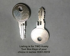 HD08 HD8 Key Replacement Home Depot Husky Truck Tool Box 1 SET of TWO KEYS FRSP