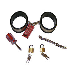 TheSexShopOnline - Metal Silicon Covered Interchangeable Cuffs Restraint Bondage