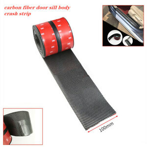 10CM/2.5M Car Carbon Fiber Strip Auto Door Bumper Edge Scratch Sticker Universal