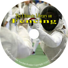 20 RARE Books on CD Ultimate Library on Fencing & Swordsmanship Sword How to
