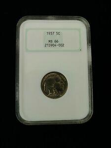 "1937 Buffalo Nickel - NGC MS66 ""Vintage Fatty Slab"""