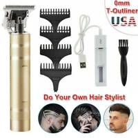 2020 US Electric T-outliner Trimmer Hair Clipper Haircut Set Zero Gapped Machine
