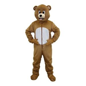 Dress up America Brown Bear Mascot Fancy Dress Costume for Adults and Kids