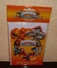 SKYLANDERS BIRTHDAY PARTY INVITES INVITATIONS PK6 NEW!