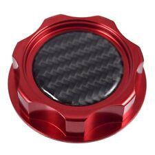 New M7 Red Billet Oil Filler Cap With Carbon Fiber Emblem JDM For Honda Acura