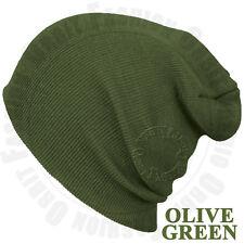 Beanie Plain Knit Hat Winter Warm Cap Cuff Slouchy Skull Hats Ski Men Women