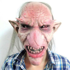 scary elf goblin face halloween latex mask old man party haunted house cosplay