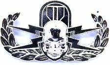 Explosive Ordnance Disposal Skull Badge US Army Military EOD Insignia SILVER Pin