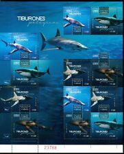 Mexico 2016 MNH Fauna Sharks Tiburones Marine Life $$$