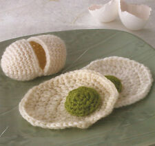 Crochet Pattern ~ EGG IN THE SHELL ~ Kid's Toy Food, Instructions