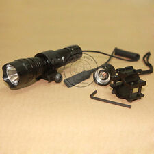 UltraFire Tactical WF-501B Xenon 7.4V Flashlight Torch + Mount Remote Switch Set