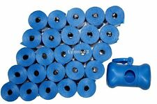 """420 THICKER / LONGER 15"""" PET WASTE POOP BAGS  & FREE BLUE DISPENSER  MADE IN USA"""