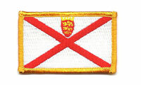 JERSEY ISLAND FLAG PATCH BADGE IRON ON EMBROIDERED