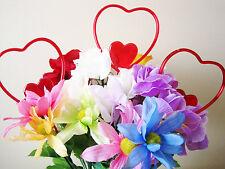 "Floral Picks Big Open HEART 4"" Wide, Valentines, Love, Anniversary, Pk/12 !"