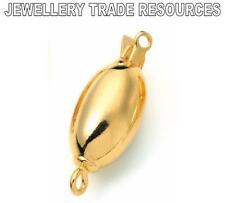 Oro Plata Dorada 8mm X 13mm Oval Perlas Joyas empuje en de cierre rápido Broches