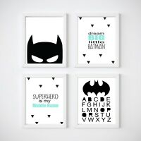 Batman Nursery Print, Kids Wall Decor, Bedroom Prints,