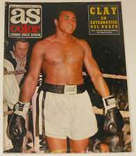AS COLOR #64 1972 Cassius Clay Muhammed Ali Real Madrid Gento Fútbol magazine