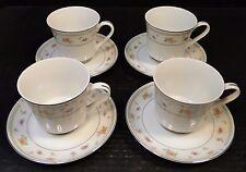 Abingdon China Tea Cup Saucer Sets Fine Porcelain Japan 4 Excellent