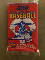1988 Score Baseball Card Pack Jim Rice (Top) Doug Jones (Back)