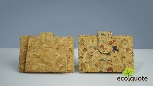 Cork Mini Wallet Handmade Eco-Friendly & Sustainable Vegan Materials by EcoQuote