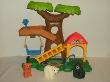 Little People Animals Zoo Treehouse With Figures Polar Bear, Gorilla, Brown Bear