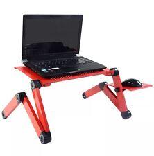 Red ergonomica Lapdesk pieghevole Tavolo per computer portatili PC Computer Scrivania Stand Letto Divano LIBRO