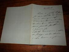 1870.Lettre autographe à Mme de Lesseps.Princesse Mathilde (Bonaparte)