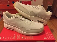 New Nike Air Max 1 Premium Tape Glow In The Dark Size 9.5 White Grey Lab Green