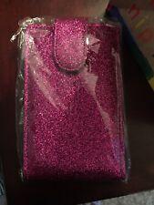 Pink Sparkle Lips Lipsense Pouch Lip Cosmetic Bag Case Makeup Purse Holder