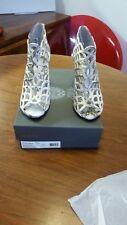 Vince Camuto Snakeskin Ankle Boots Sandals, UK 7 EU 40 BNIB