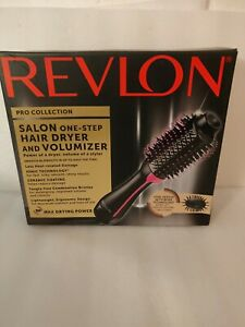 Revlon PRO Collection Salon One Step Hair Dryer and Volumizer Brush Pink