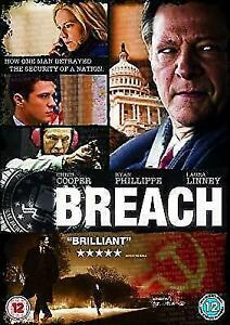 Breach DVD 2007 Movie Ryan Phillippe - Laura Linney Chris Cooper - REGION 2 UK