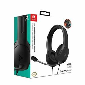 PDP Officially Licensed LVL40 Stereo Wired Headset - Black (Nintendo Switch)