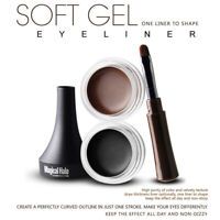 Makeup Eye Liner Cream Eyeliner Eye Waterproof Shadow Gel Brush Tool Cosmetics