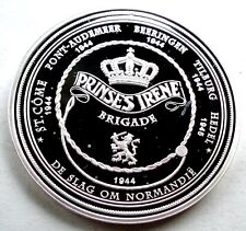 NETHERLANDS, WWII PRINSES IRENE BRIGADE BU Proof Medal 40mm 20g Silver Plated B9