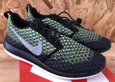 Nike Roshe Dos Flyknit 365 Volt Gris Lobo Verde Brillo Talla 9 Nuevo en Caja