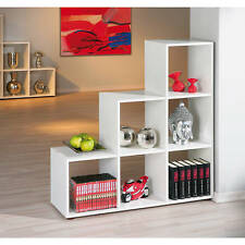 Raumteiler Regal weiß Bücherregal Wandregal Aktenregal Wohnzimmer 6 Fächer