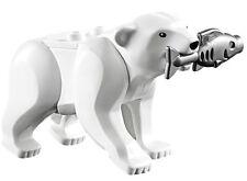 NEW LEGO POLAR BEAR w/FISH MINIFIG LOT 60036 60062 arctic animal figure toys
