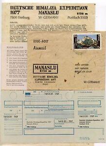 MOUNTAINEERING GERMANY HIMALAYA EXPEDITION MANASLU 1977 BOOKPOST AIRMAIL NEPAL